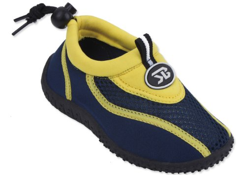 New Sunville Brand Toddler's Yellow & Navy Athletic Water Sh