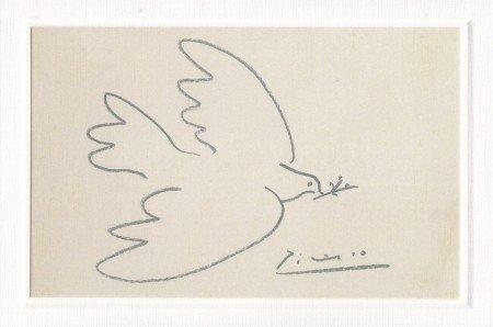 Kunstkarte Picasso Die Friedenstaube Amazonde Brobedarf