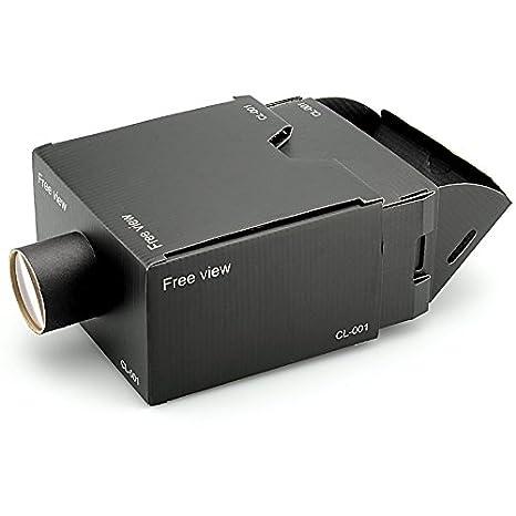 Amazon.com: Portable cartón teléfono celular proyector ...