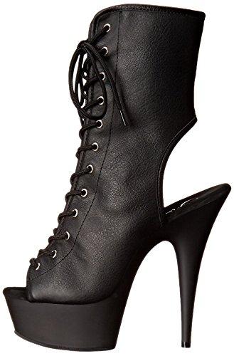 Botas blk Leather Negro 1016 Matte blk Black Delight Faux Mujer Pleaser qH16w