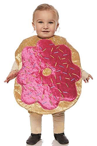 Underwraps Kid's Toddler's Plush Donut Belly Babies Costume Childrens Costume, Multi, Medium ()