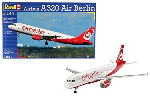 (Revell of Germany Airbus A320 Air Berlin Plastic Airplane Model Building Kits)