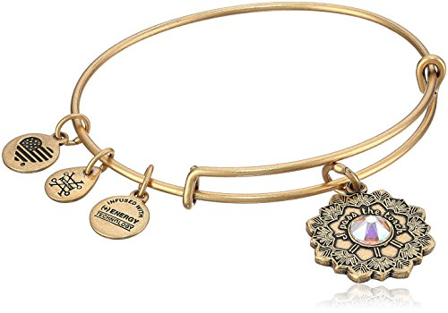 Alex and Ani Mother of The Bride Rafaelian Gold Bangle Bracelet]()