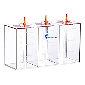 Acryli Made Liquid Storage Bucket 3 Rooms 4.5 Liters, Working with Dosing Pump