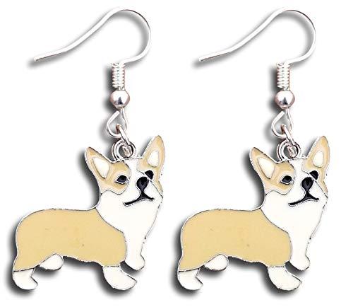 (Pembroke Welsh Corgi Puppies Dangle Earrings by Pashal)