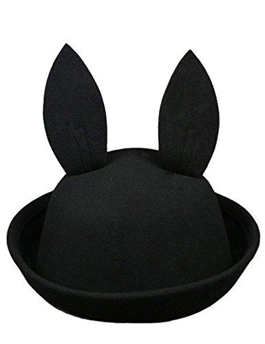 Lujuny Kids Bunny Ear Bowler Hat – Cute