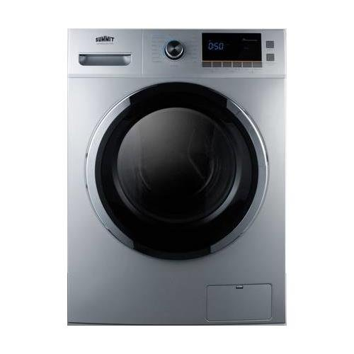 Summit SPWD2201SS 24'' Washer/Dryer Combo with 2 cu. ft. Capacity Stainless Steel Drum 1200 RPM Delay Start Option 7 Wash Cycles and 3 Dry Cycles in