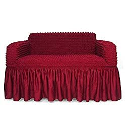 STARS 1-Piece Stretchable Easy Fit Sofa Cover Durable Furniture Slipcover in Country Style Made of Machine Machine Washable and Quick-Drying Fabric for Armchair/Loveseat / Sofa