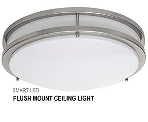 SmartLED 16-Inch LED Flush Mount Ceiling Light Fixture