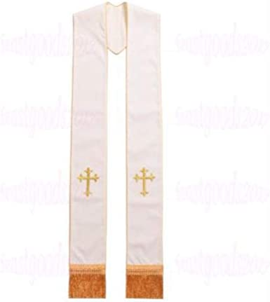 1PC Cross Embroidery Church Vestments Stole Priest Mass Stole