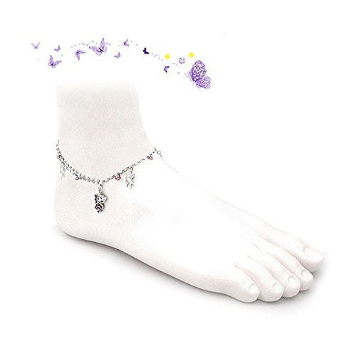 Glamorousky Cutie Cat Anklet with Purple Austrian Element Crystals (1815) dQHi0lp