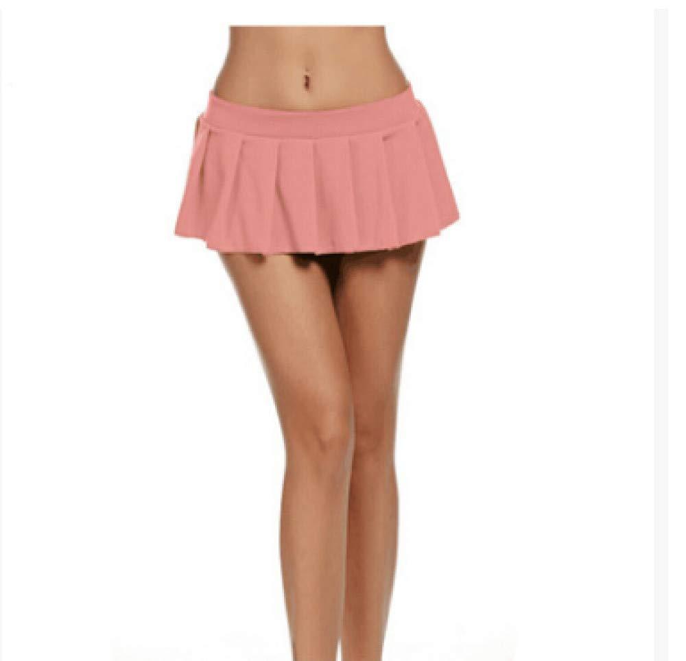 HAHAQZ Falda,Rosa Sexy Mini Falda Corta Mujer Micro Mini Falda ...