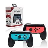 Megadream Joy-Con Grips for Nintendo Switch, Wear-resistant Handle Kits for Nintendo Switch Joy-Con controllers, Mario Kart 8, Super Mario Odyssey, Pokken Tournament DX – 2 Pack (Gray)