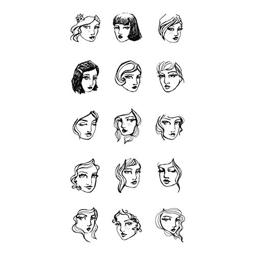 (Spellbinders JD-009 Tin of Friends from Artomology by Jane Davenport Wood Mount Stamp Set,)