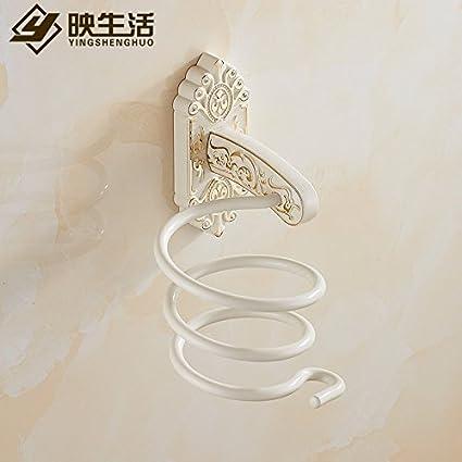 Qingv Oro Continental con secador de pelo blanco pintura Rack Rack Secador de pelo Secador de