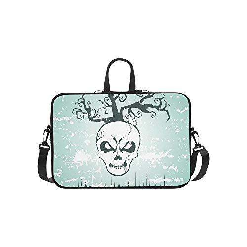 Vector Halloween Banner Flyer Poster Witch Pattern Briefcase Laptop Bag Messenger Shoulder Work Bag Crossbody Handbag for Business Travelling]()