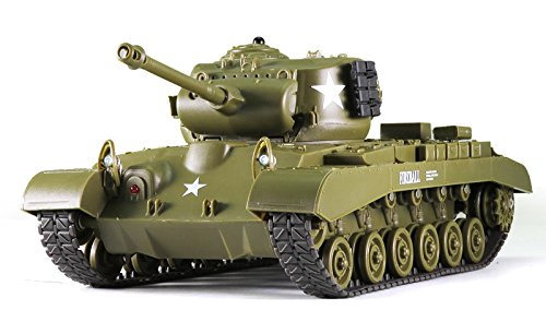 Remote Control 2.4Ghz 1/30 Scale US M26 Pershing RC IR Battle Tank w/Sound - Controlled Radio Tank Scale Battle