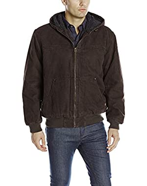 Men's Heavy Cotton Canvas Work Wear Kent Hoody Bomber