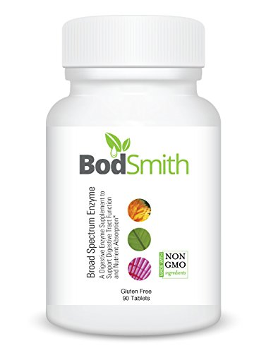 Support Broad Spectrum - BodSmith Broad Spectrum Enzyme A Premium Quality Digestive Enzyme Supplement to Support Digestive Tract Function and Nutrient Absorption*