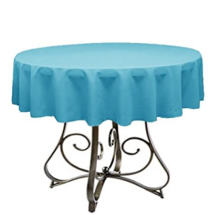 Excellent Tablecloth For 48 Round Table By Florida Tablecloth Factory Turquoise Home Interior And Landscaping Palasignezvosmurscom
