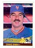 Autograph Warehouse 72453 Craig Swan Autographed Baseball Card New York Mets 1984 Donruss No . 441 Ballpoint Pen