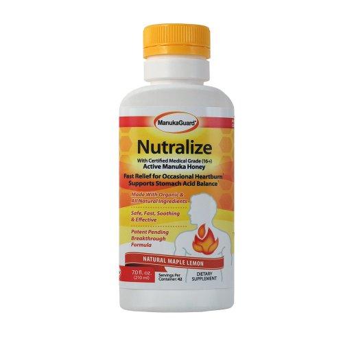 100% Natural Heartburn & Acid Reflux Remedy: Nutralize (Maple Lemon Flavor)