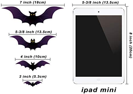 Halloween Bat Silhouettes Window Cling Decoration 2 Pack Spooky Atmosphere