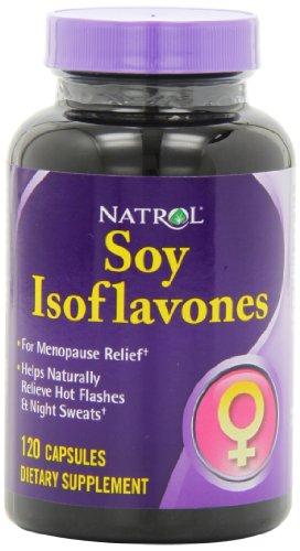 Natrol Soy Isoflavones Capsules, 120-Count (Pack of 2)