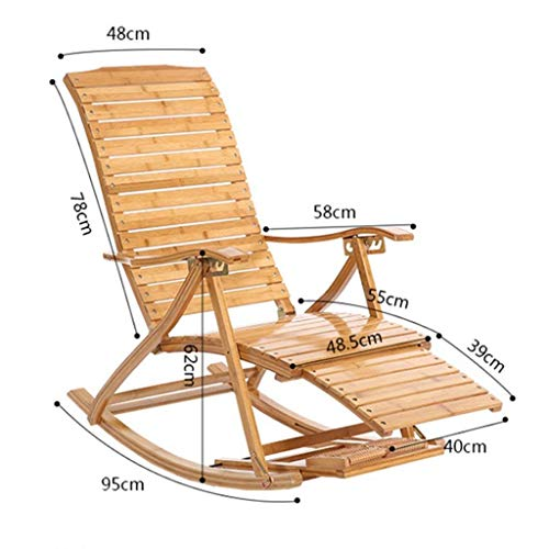 Price comparison product image Home Bamboo Rocking Chair / Adult Siesta Chair / Recliner / Folding Lunch Break Balcony Chair / Sofa Lounge Chair / Easy Chair / Beach Chair / Elderly Chair / Courtyard Wooden Swing Chair
