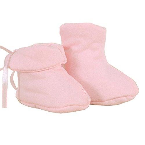 Baby Newborn Cotton Winter Thicker Warmer Kids Shoes Socks for 0-6 Months (Pink)