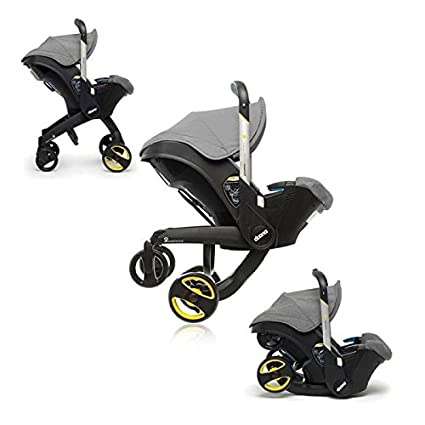Asiento Auto Grupo 0 +/cochecito doona + gris simple Parenting
