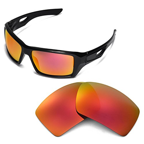 Walleva Replacement Lenses for Oakley Eyepatch 2 Sunglasses - Multiple Options Available (Fire - 2 Replacement Oakley Lenses Eyepatch