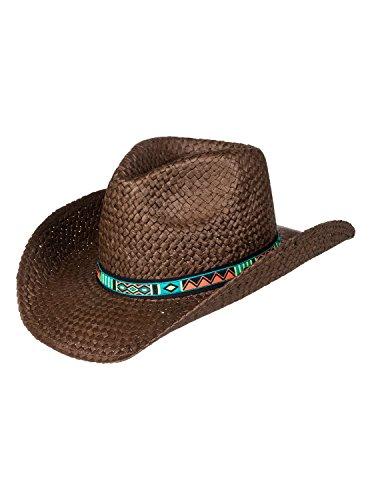 Roxy Womens Cowgirl - Straw Cowboy Hat - Women - M - Brown Brown (Ml Straw Hat)