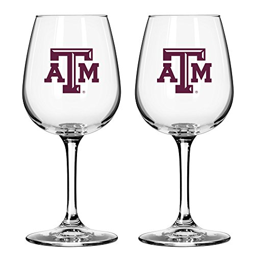 NCAA Texas A&M Aggies Game Day Wine Glass, 12-ounce, - M Glasses