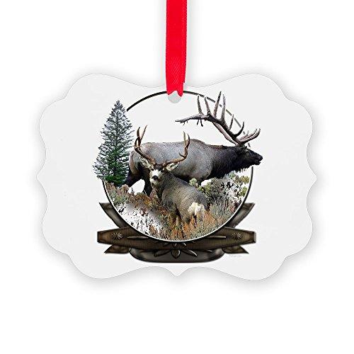 CafePress Big Game Elk And Deer Christmas Ornament, Decorative Tree Ornament