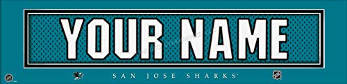 (San Jose Sharks NHL Jersey Nameplate Wall Print, Personalized Gift, Boy's Room Decor 6x22 Unframed Poster)