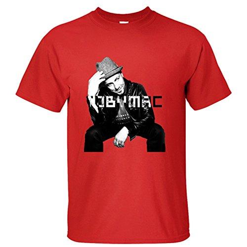 Men's Top Tobymac Hits Deep 2016 Tour Soft Cotton Short Sleeve T-Shirt red XL