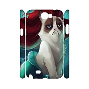 Grumpy cat CUSTOM 3D Cover Case for Samsung Galaxy Note 2 N7100 LMc-89718 at LaiMc