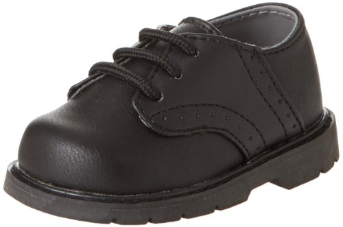 Natural Steps Clay Flat (Infant/Toddler),Black,3 M US (Baby Saddle Shoes)