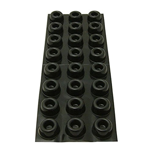 3M Bumpon SJ5009 Black Bumper/Spacer Pad - Cylindrical Shaped Bumper - 0.88 in Width x 0.4 in Height - 18434 [PRICE is per PAD]