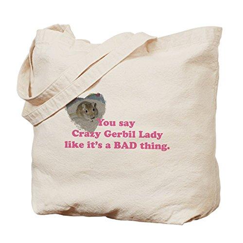CafePress–Crazy Gerbil Lady–Borsa di tela naturale, panno borsa per la spesa