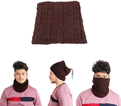 1e59f924576ec EASY4BUY® Winter Cap Neck Warmer Snood Scarf Hat Sports Windproof Thermal  Skiing Snowboard Men Women Unisex Mehroon  Amazon.in  Car   Motorbike