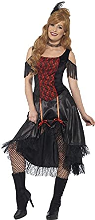 Steampunk Dresses | Women & Girl Costumes Smiffys Ladies Saloon Girl Costume $23.65 AT vintagedancer.com