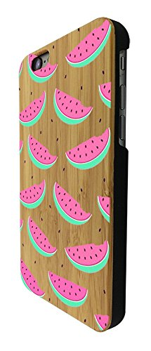 C0331 - Cool Fun Cute Watermelon Love Food Fruit Summer Doodle Kawaii Art Trend Blogger Pink Red Green Design iphone SE - 2016 / iphone 5 5S Coque Natural Véritable Bois Real Wood Coque