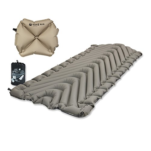 Klymit Static V Luxe Sleeping Pad X-Large Gray w Pillow X