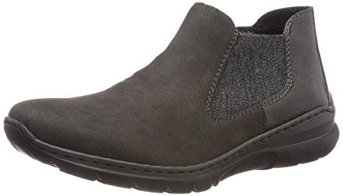 Women's L32h0 Boots Grey Chelsea 46 Anthrazit Anthrazit Fumo Rieker d6wqgH56