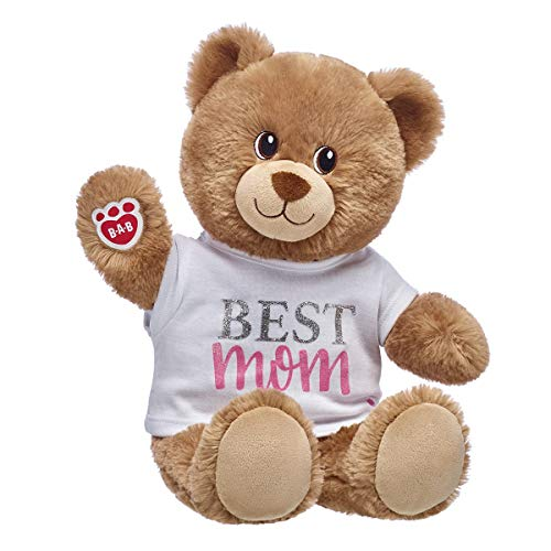 Build A Bear Workshop Lil' Cub Brownie Best Mom Teddy Bear Gift Set Perfect for Mother's Day, 15 inches