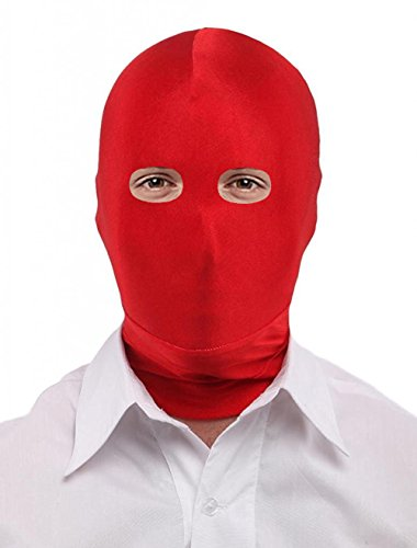 Seeksmile Unisex Lycra Spandex Full Cover Zentai Hood Mask (Kids Size, Red Open-Eyes)]()