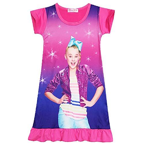 Long Sleeve T-Shirt for Girls wazonton JoJo Siwa Long Sleeve Pajama Dress