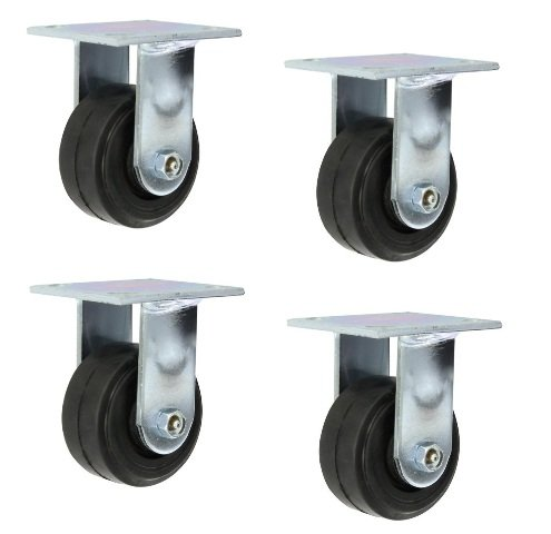 (Clearance) Set of 4 Heavy Duty Rigid Casters 4